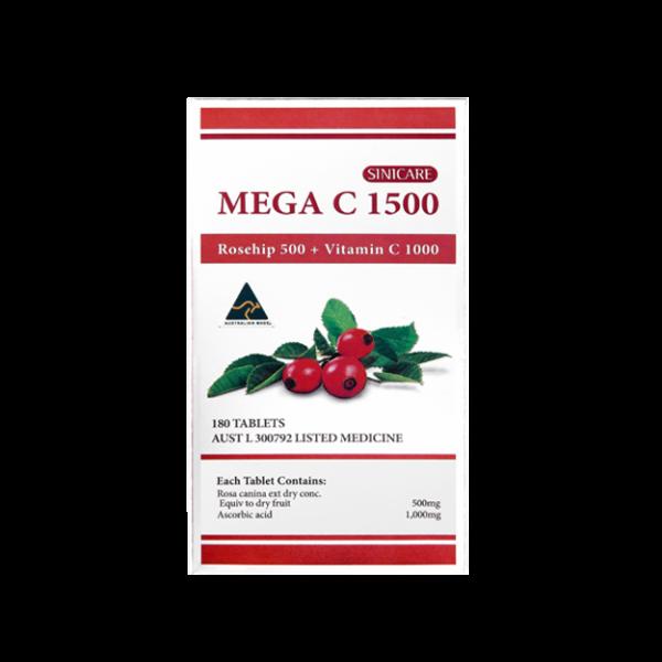 SINICARE Mega C 1500 180s