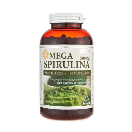 SINICARE Mega Spirulina 500s