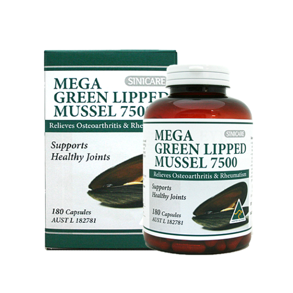 SINICARE Mega Green Lipped Mussel 180s